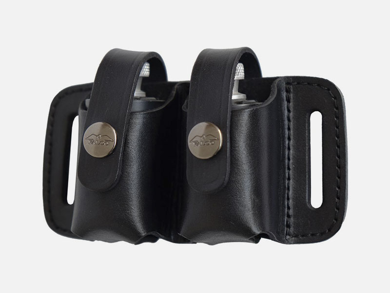 Leather Double SpeedLoader Pouch